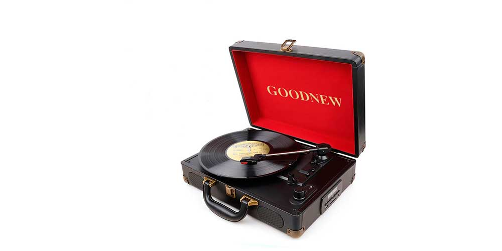 GOODNEW Suitcase Turntable